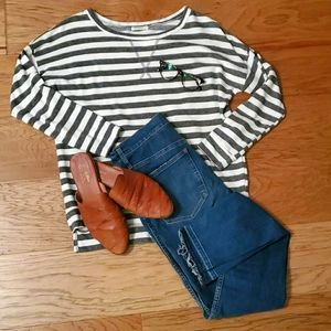 Red Dress Boutique Striped 3/4 sleeve top
